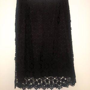 Alfani Black Lace Pencil Skirt